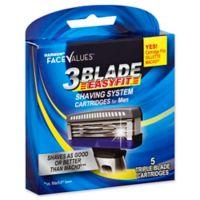Harmon® Face Values™ 5-Count Triple Blade EASYFIT™ Men's Shaving System Cartridges