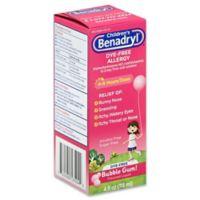 Children's Benadryl® 4 oz. Dye-Free Allergy Liquid in Bubble Gum