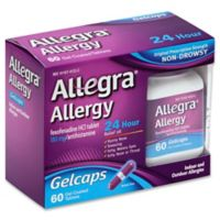 Allegra® Allergy 60-Count 24 Hour Relief Gelcaps