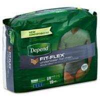 Depend® Fit-Flex™ Size S/M 19-Count Maximum Absorbency Underwear for Men