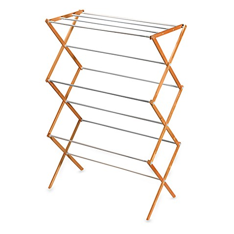 Folding Wood Drying Rack Bed Bath Amp Beyond