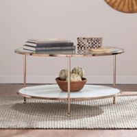Southern Enterprises Risa Cocktail Table in Gold