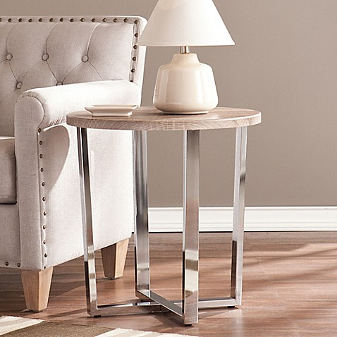 image of Southern Enterprises Elements End Table in Grey