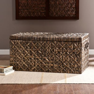 Southern Enterprises Water Hyacinth Storage Trunk & Buy Blanket Storage Chest from Bed Bath u0026 Beyond