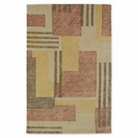 Kaleen Montage Boxes 9-Foot x 12-Foot Area Rug in Camel