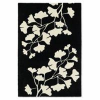 Kaleen Melange Flower Cutouts 9-Foot x 12-Foot Area Rug in Black