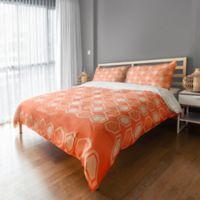 Geo Prep Hexagon Full/Queen Duvet Cover in Orange