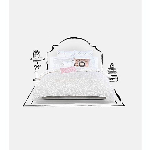 Kate spade new york literary glasses comforter set bed for Bed bath and beyond kate spade