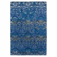 Kaleen Mercery Silkscreen 9-Foot 6-Inch x 13-Foot Area Rug in Azure