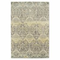 Kaleen Mercery Silkscreen 9-Foot 6-Inch x 13-Foot Area Rug in Grey