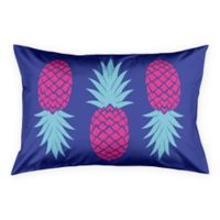 Designs Direct Geo Prep Collection Preppy Pineapple King Pillow Sham in Purple