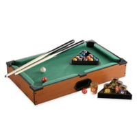 Game Night Tabletop Pool and Shot Glass Set