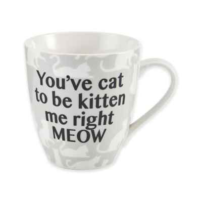 "Pfaltzgraff® ""You've Cat to Be Kitten Me Right Meow"" Mug in White"