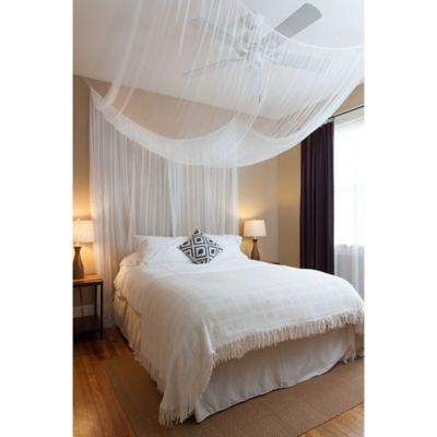Cirrus 4 Poster Bed Canopy In White