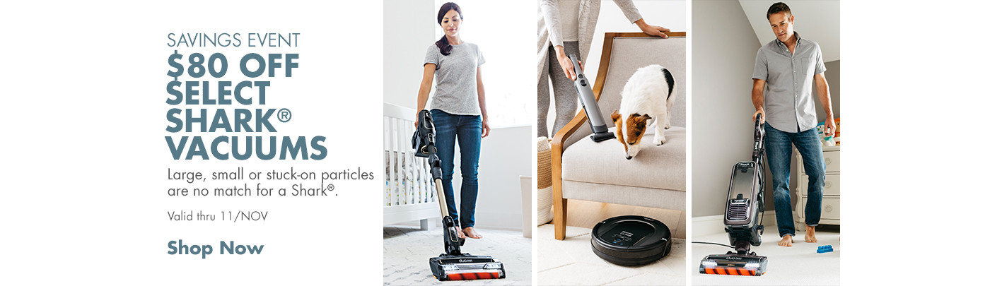 $80 off Select Shark Vacuums