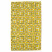 Kaleen Glam Tiles 9-Foot x 12-Foot Area Rug in Yellow