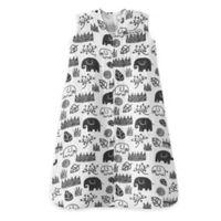 HALO® Medium SleepSack® Medium King Organic Cotton Muslin Wearable Blanket in White/Black
