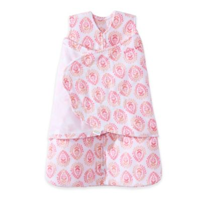 HALO® SleepSack® Multi-Way Pink Medallion Adjustable Fleece Swaddle in Ivory