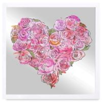 Oliver Gal Heart of Roses Framed Printed Mirror Wall Art