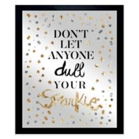 Oliver Gal Always Shine Confetti Framed Printed Mirror Wall Art