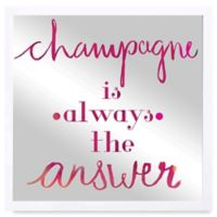 "Oliver Gal ""Champagne is the Answer"" Framed Printed Mirror Wall Art"