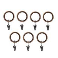 Umbra® Esquire Clip Rings in Espresso (Set of 7)