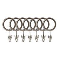 Umbra® Esquire Clip Rings in Pewter (Set of 7)