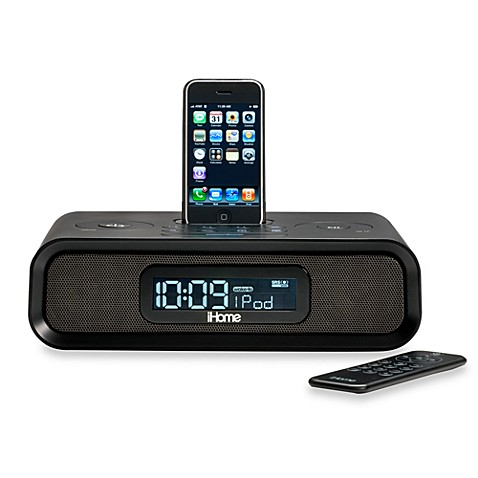 ihome dual alarm clock radio for iphone and ipod bed bath beyond. Black Bedroom Furniture Sets. Home Design Ideas
