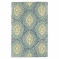 Kaleen Montage Center Medallion 9-Foot x 12-Foot Area Rug in Blue