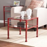 Southern Enterprises Bunching Cocktail Table in Red
