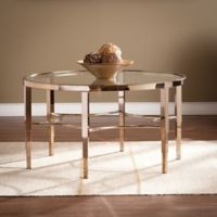 Southern Enterprises Thessaly Cocktail Table in Gold