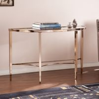 Southern Enterprises Thessaly Console Table in Gold