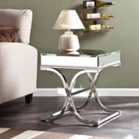 Southern Enterprises Ava Mirrored End Table in Chrome