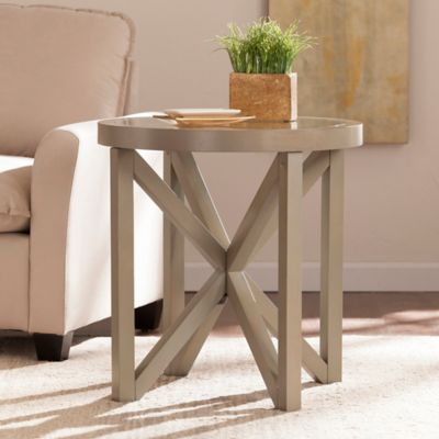 Southern Enterprises Brentwick End Table In French Grey