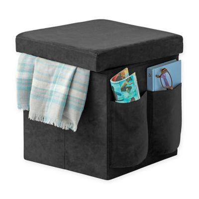 Sit & Store Folding Storage Ottoman in Black - Buy Black Storage Ottomans From Bed Bath & Beyond