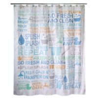 Avanti Bath Words Shower Curtain