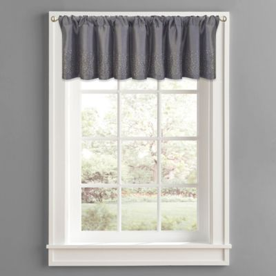 Twilight Polyester Window Valance In Grey