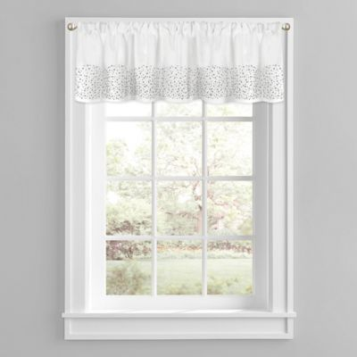 Twilight Window Valance In White