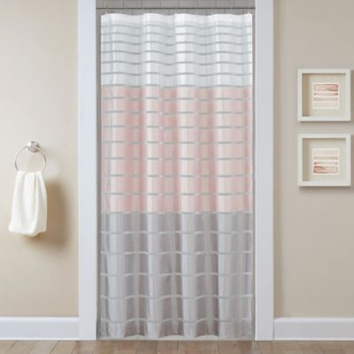 demi 54inch x 78inch stall shower curtain in blush