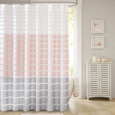 Demi Extra Long Shower Curtain In Blush