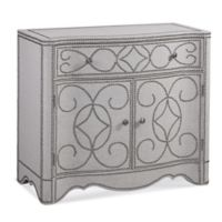 Bassett Mirror Company Dension In-Town Hospitality Cabinet in Antique Metal