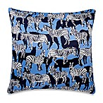 kate spade new york Poppy Fields Zebra 20-Inch Square Throw Pillow in Blue