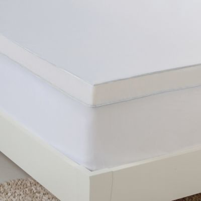 hydraluxe gel memory foam queen mattress topper in white