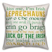 Designs Direct St. Patrick's Lucky Lingo Throw Pillow