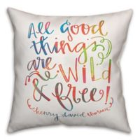 Designs Direct Boho Wild And Free Throw Pillow