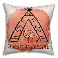 Designs Direct Boho Fox TeePee Throw Pillow