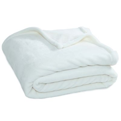buy white soft blanket from bed bath beyond