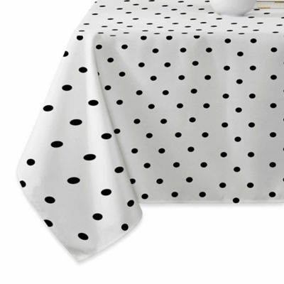 Superbe DENY Designs Tiny Dots Tablecloth In Black