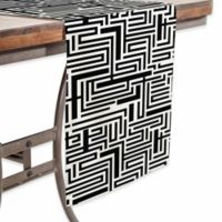 DENY Designs Meander 90- Inch Table Runner in Black