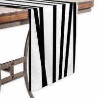 DENY Designs 90-Inch Crew Stripe Table Runner in Black